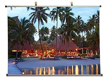 Amazon Com Tollyee Fiji Islands Resort Canvas Wall Scroll