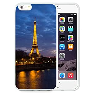 Eiffel Tower Sunset (2) Silicone TPU iPhone 6plus 5.5 Inch Protective Phone Case
