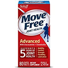 Move Free Triple Strength Glucosamine Chondroitin and Hyaluronic Acid Joint Supplement, 80 Count (Pack of 4)