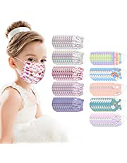 100Pcs Kids Disposable Face_Mask Childrens Face_Mask Assorted Colors with Cartoon Design Boys Girls 3-Ply Face_Covering