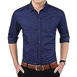 LionRoar Men's Polka Print Full Sleeves Formal Shirt