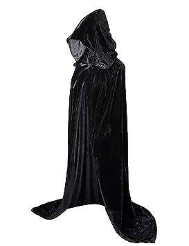 ShiyiUP Capa de Disfraz de Muerte Bruja para Halloween Cosplay ...