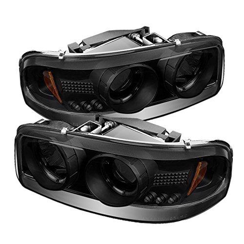 Spyder Auto PRO-YD-CDE00-HL-BSM GMC Sierra LED Halo Projector Headlight,Black - Euro Headlights Gmc