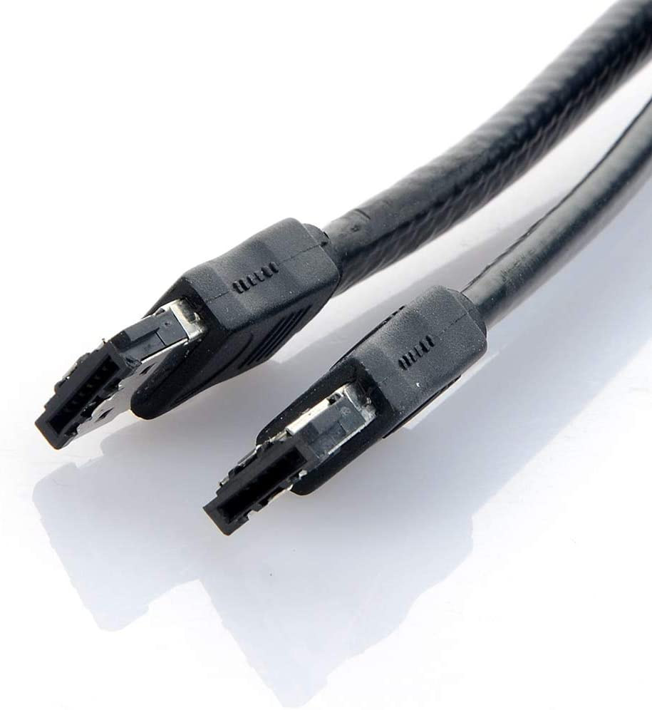 Computer Cables 60CM Black 1M 3FT eSATA to eSATA 7-Pin Shielded External Cable Cord Cable Length: Other