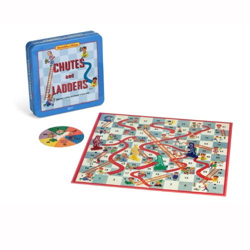 Chutes and Ladders Deluxe Board Game in Classic Nostalgia Collector's Tin