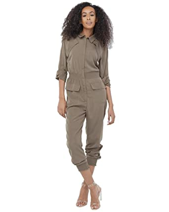 strong packing entire collection save up to 60% Amazon.com: Uniq Women's Smocked Utility Jumpsuit (S, Brown ...
