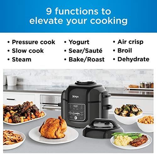 Quart Pot Capacity Air Crisp Sear Saut/é Bake Broil Steam Slow Cook Dehydrate All in One OP402 Renewed Ninja Foodi Pressure Cooker TenderCrisp Technology 8 Blue