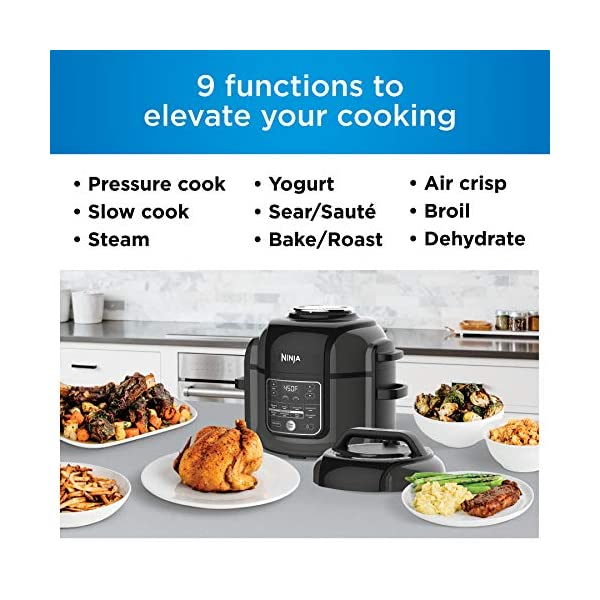 Ninja OP302 Foodi 9-in-1 Pressure, Broil, Dehydrate, Slow Cooker, Air Fryer, and More, with 6.5 Quart Capacity and 45… 2