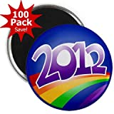 OBAMA Supports Same-Sex Marriage 2012 LGBT Rainbow Campaign Logo 100-Pack of 2.25 inch Fridge Locker Magnets