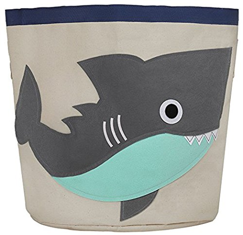 Canvas Storage Bins for Kids Toys or Laundry Basket (Shark) by Xilux