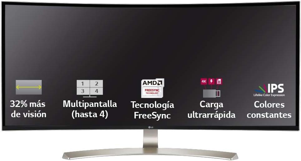 LG 35WN73A-B - Monitor Ultrapanorámico Curvo LG UltraWide WQHD de 88,9 cm (35