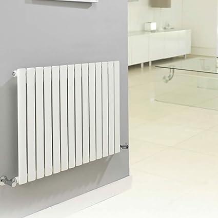 Hudson Reed Serie Revive Radiador Calentador Mural Decorativo Diseño Horizontal - Acero Blanco - 945 Vatios
