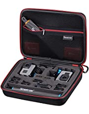 Smatree Smacase G260sl Tas voor DJI OSMO Action/GoPro Hero10/9/8/7/6/5/4/3/3+, Zwart & Geel (camera en accessoires niet inbegrepen)