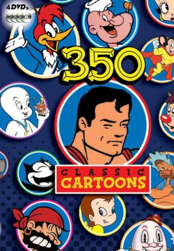 350 Classic Cartoons (Cartoon For Kids Dvd)