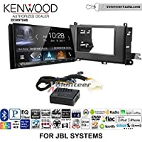 Volunteer Audio Kenwood DDX9704S Double Din Radio Install Kit with Apple Carplay Android Auto Fits 2011-2014 Toyota Sienna with Amplified System
