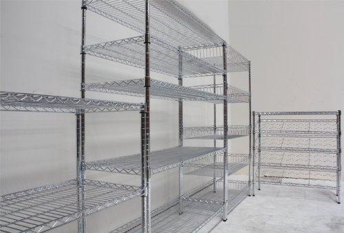gitterregal / chromregal 1800mm x 1500mm x 450mm 4 fachböden ... - Gitterregal Küche