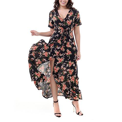 iBaste Sommerkleid Damen Lang ALinie Maxikleid Boho Kleid damen ...
