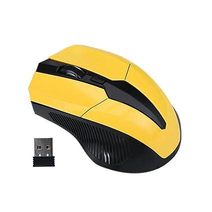 Ratón de Juego Ratones 2.4 GHz Inalámbrico Óptico Portátil Gaming Mouse Sin Cable Receptor USB para