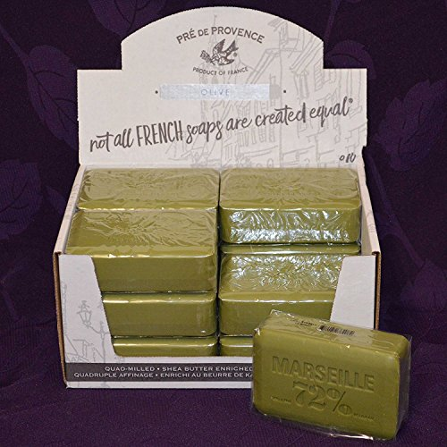 (Pre de Provence Savon de Marseilles Olive Oil Soap - Case of 12 Bars,Green,250 Gram)