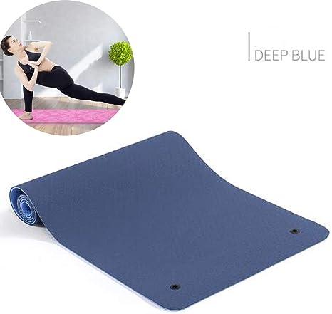 CWDXD Estera de Yoga TPE de Dos Colores, Doble Agujero Europeo ...