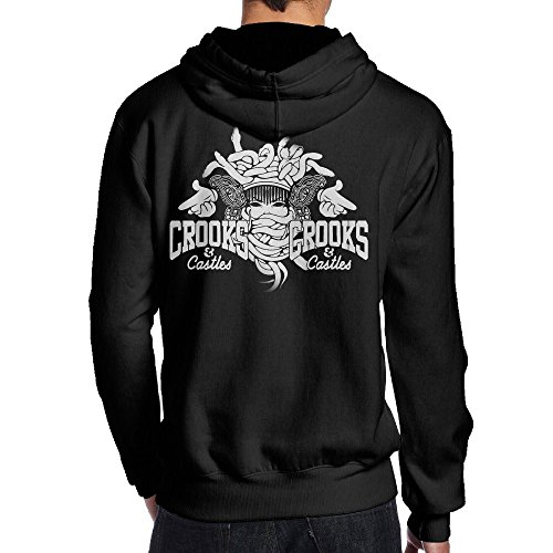 Ano Men's Hoodies Crooks and Castles Size S Black ()