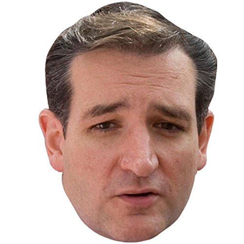 Ted Cruz Celebrity Mask, Card Face and Fancy Dress Mask