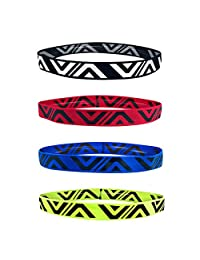 4 Pack Headband Male Sports Sweat Guide Running Hair Band Basketball Protection Forehead Sweating Wicking Female Headscarf Fitness
