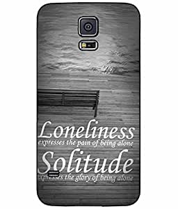Loneliness and Solitude TPU RUBBER SILICONE Phone Case Back Cover Samsung Galaxy S5 I9600