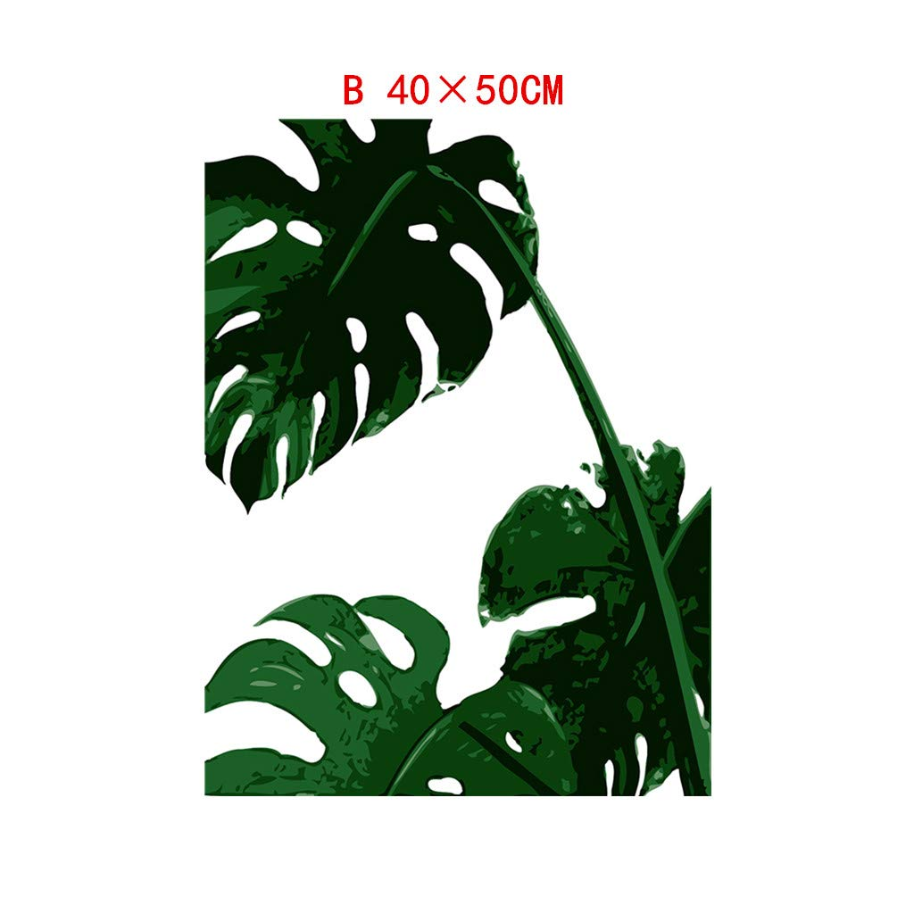 Buy BuyoneLeaf Plant Leaf Tortoise Decorative Canvas Painting Children's  Room Hanging Painting Spray Painting Gifts for Living Room DIY Wall Sticker  Wall Stickers Home Office Decoration (B) Online at Low Prices in