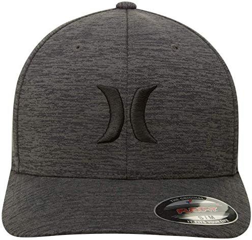 HURLEY MEN'S BLACK TEXTURES BASEBALL CAP