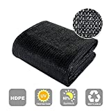 Agfabric 60% Sunblock Shade Cloth Cover with Clips for Plants 6.5' X 30', Black