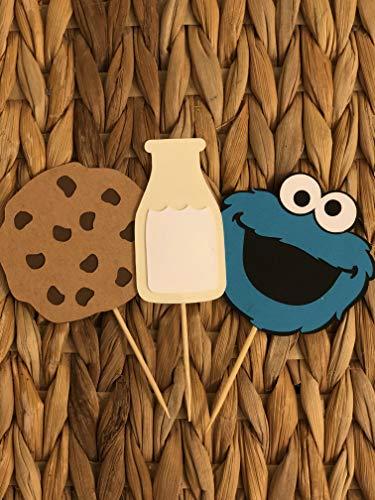 Set of 12 Cookie Monster - Sesame Street Cupcake -