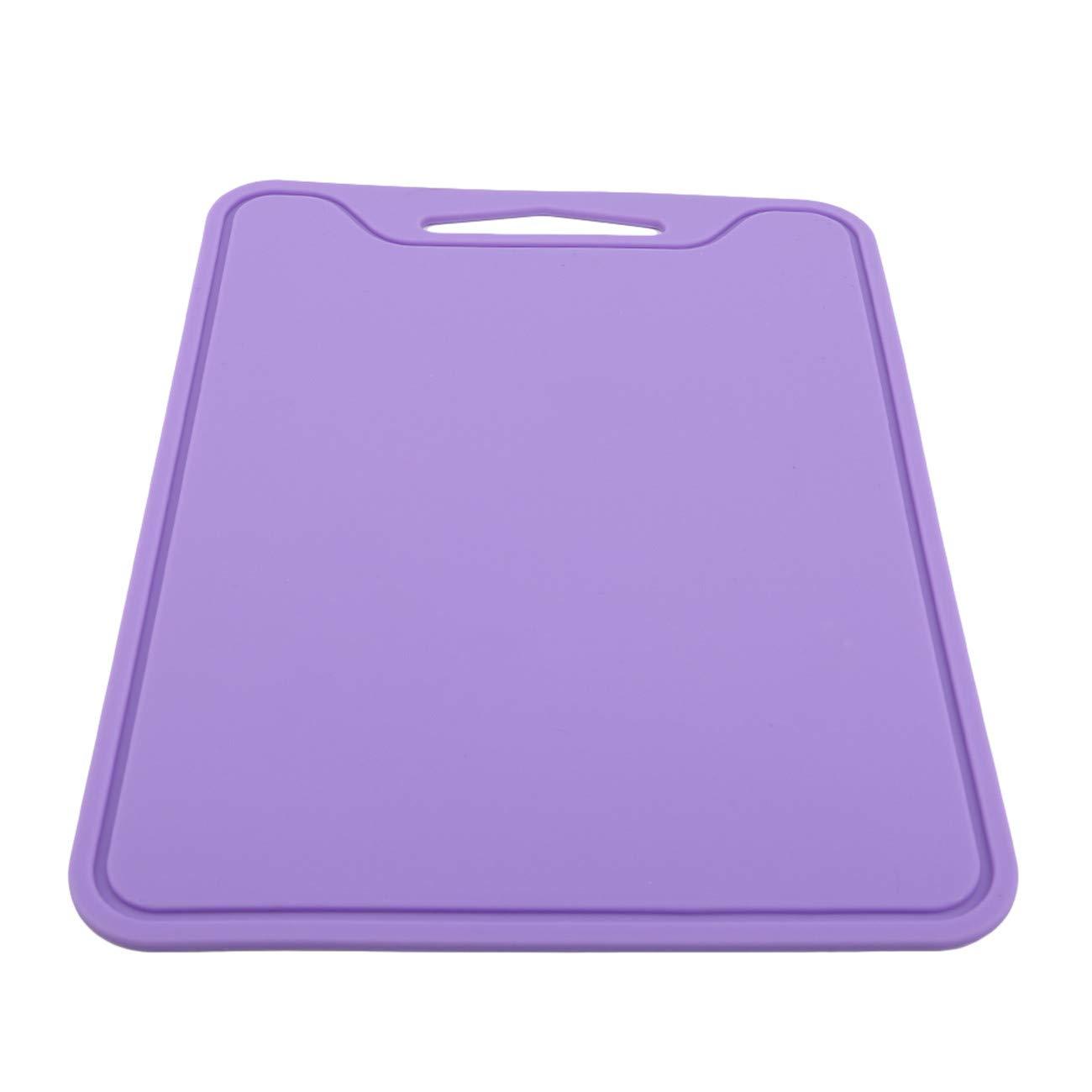 Violet ZALING Planche /À D/écouper en Silicone /Épais Et Flexible Planche /À D/écouper S/écuritaire pour Lave-Vaisselle Outil De Cuisine Utilitaire
