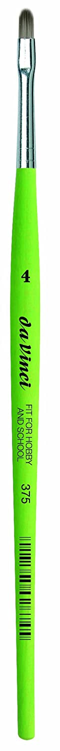 Size 0 Round Elastic Synthetic with Green Matte Handle da Vinci Student Series 373 Fit for School and Hobby Paint Brush