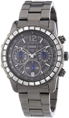 Guess Lady B Grey Stainless Steel Chronograph Ladies Watch