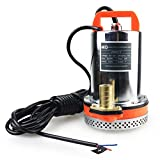 BACOENG DC 12V Submersible Water Pump Solar Water Pump with 6m Cable, 26FT Lift