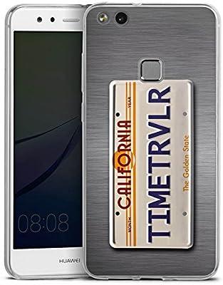 Huawei P10 Plus Slim Case Carcasa de silicona Matrícula Future ...