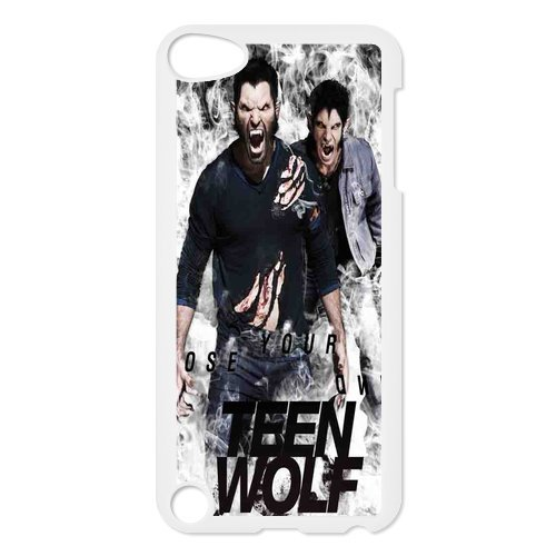 Black/White Sides Classic Style Custom Unique Teen Wolf Design Skin Cover Case for iPod Touch 5th Durable Plastic iPod 5 Case