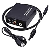 Mudder Digital Audio Converter Optical SPDIF Toslink Coaxial to Analog RCA L/R Adapter with 3.5mm Jack