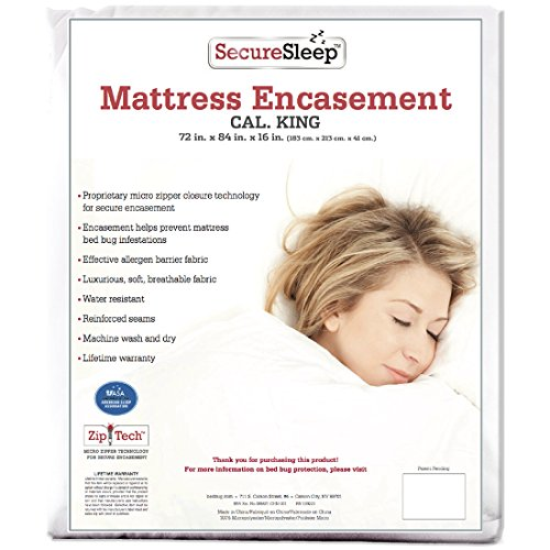Secure Sleep Premium Bed Bug Proof Mattress Encasement Pr...