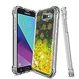 Topamz-Samsung Galaxy j7 2017 Case,Galaxy J7 Sky Pro/ J7 V J7V 2017/ J7 Prime/ J7 Perx Glitter Case,Gradient Quicksand Series [Shock Absorption] Bling Liquid Protective Case (Pineapple)
