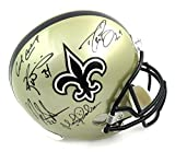 New Orleans Saints Riddell Full Size NFL Helmet Signed by Drew Brees, Earl Campbell, Mark Ingram, Ricky Williams & Morten Andersen