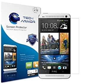 One (M7) Screen Protector, Tech Armor High Definition HD-Clear HTC One (M7) Screen Protector [3-Pack]