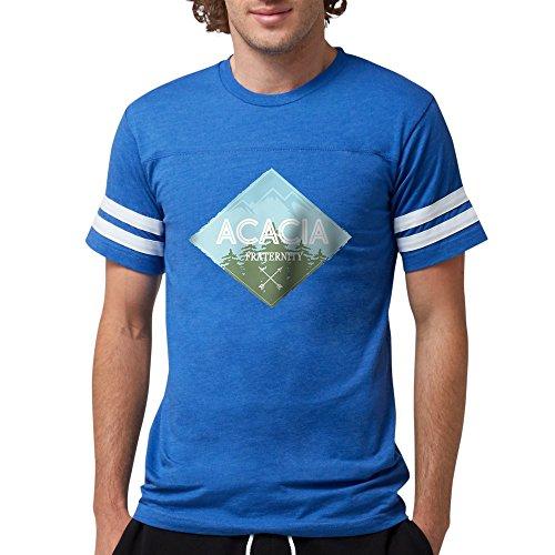 (CafePress Acacia Mountain Diamond Blu Mens Football T Shirts Mens Football Shirt)