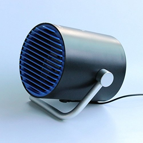 Aoile USB Table Fan, Portable Personal Mini Desk Fan, PC/Laptop Cooling Fan for Home, Office, Travel (Touch Control, Dual Motor Driver, Double Blades, Whisper Quite(Black blue) by Aoile