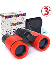 Gifts for 8-10 Year Old Boy, Mini Compact Binoculars for Kids, Educational Toys 4x30mm Pocket Folding Binoculars Birthday Gifts Party Favors for Kids (Red)