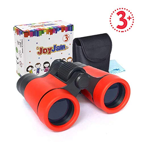 Joyjam Gifts for 8-10 Year Old Boy, Mini Compact Binoculars for Kids, Educational Toys 4x30mm Pocket Folding Binoculars Birthday Gifts Party Favors for Kids (Red)