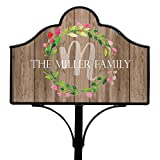 GiftsForYouNow Family Wreath Personalized Magnetic Yard Sign Set