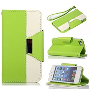 Gotida 4SLE0001 Wallet Leather Carrying Case Cover With Credit ID Card Slots/ Money Pockets For iPhone 4/4S
