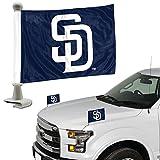 San Diego Padres 2-Pack Ambassador Style Auto Flag Car Banner Set Baseball